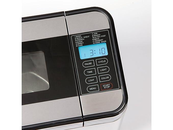 - Panificadora (+ Doble molde para 2 Kleine Pan, 4 ganchos para amasar, Interior Iluminación: Amazon.es