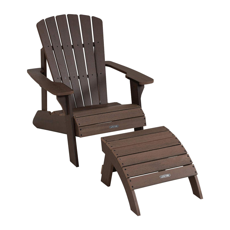 Lifetime 60284 Adirondack Chair Black