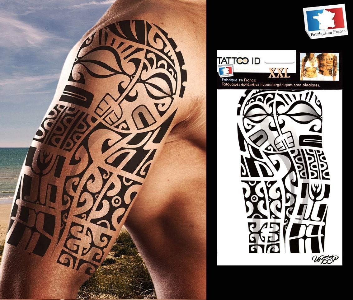 Tattoo ID Tatuaje marquesino tribal maori, grande, temporal e ...