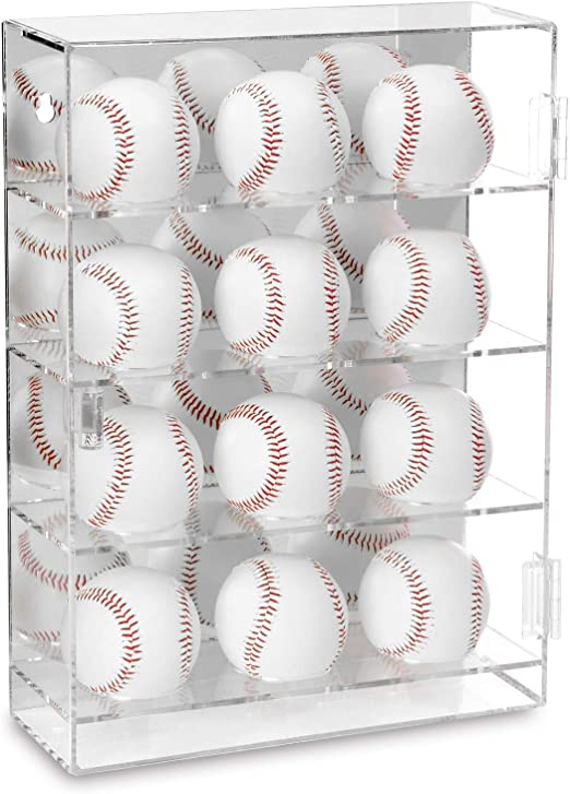 NIUBEE Acrylic Riser Holder for Autographed Baseball Display UV Protected Seat Cubes