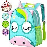 """Unicorn Backpack, 12"""" Toddler Bag for Girls"""