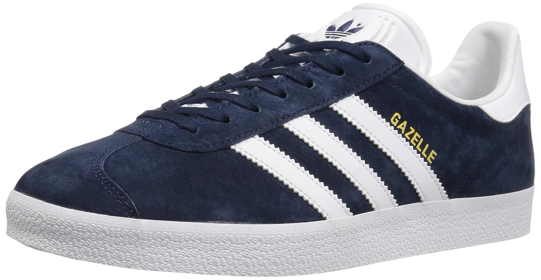 adidas Men's Gazelle Casual Sneakers B01HLJXAO0 5 M US|Collegiate Navy/White/Gold Met.