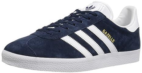 Adidas Mens Gazelle Navy White Nubuck Trainers 44 2/3 EU