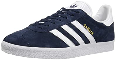 Adidas Mens Gazelle Navy White Nubuck Trainers 40 2/3 EU