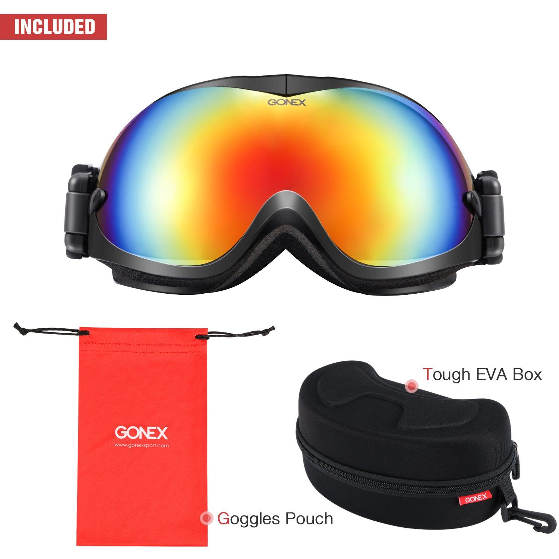 f672dc8199b2 Gonex Adult Ski Goggles Snow Snowboard Goggles Blue Lens Blue Frame larger  image