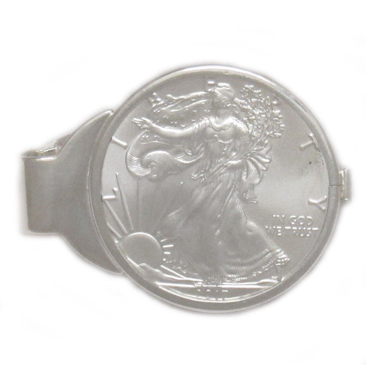 Flintski Jewlery LLC 1 oz American Silver Eagle Sterling Silver Spring Back Money Clip (2017)