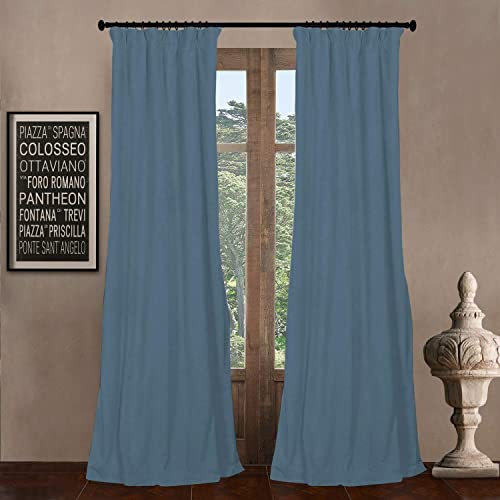 Magic Drapes Home d cor 100 Polyester Double Box Pleat Blackout cutains Curtain and Size Customization can be Done by contacting Buyer via email Aqua Blue, Custom Size