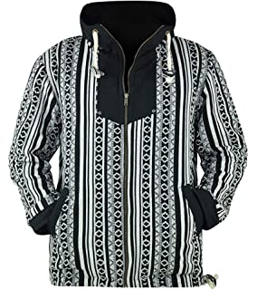 e93611e5a1135c Amazoncom Virblatt Mens Baja Hoodie And Hippie Sweater Baja