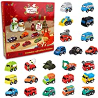 Anditoy 2021 Advent Calendar with 24 PCS Pull Back Cars Toys Gift Box for Kids Boys Girls Toddlers 24 Days Christmas…