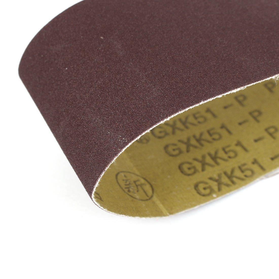 sourcing map 533mmx75mm bois 180 abrasif poussi/ére un papier bande abrasive 5pcs