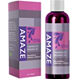 Massage Therapy Oil for Aromatherapy Relaxation and Aphrodisiac Sensual Massage for Lovers Natural Smooth Skin Care with Pure Lavender Jojoba and Sweet Almond Oil Anti-Aging Moisturizer for Dry Skin