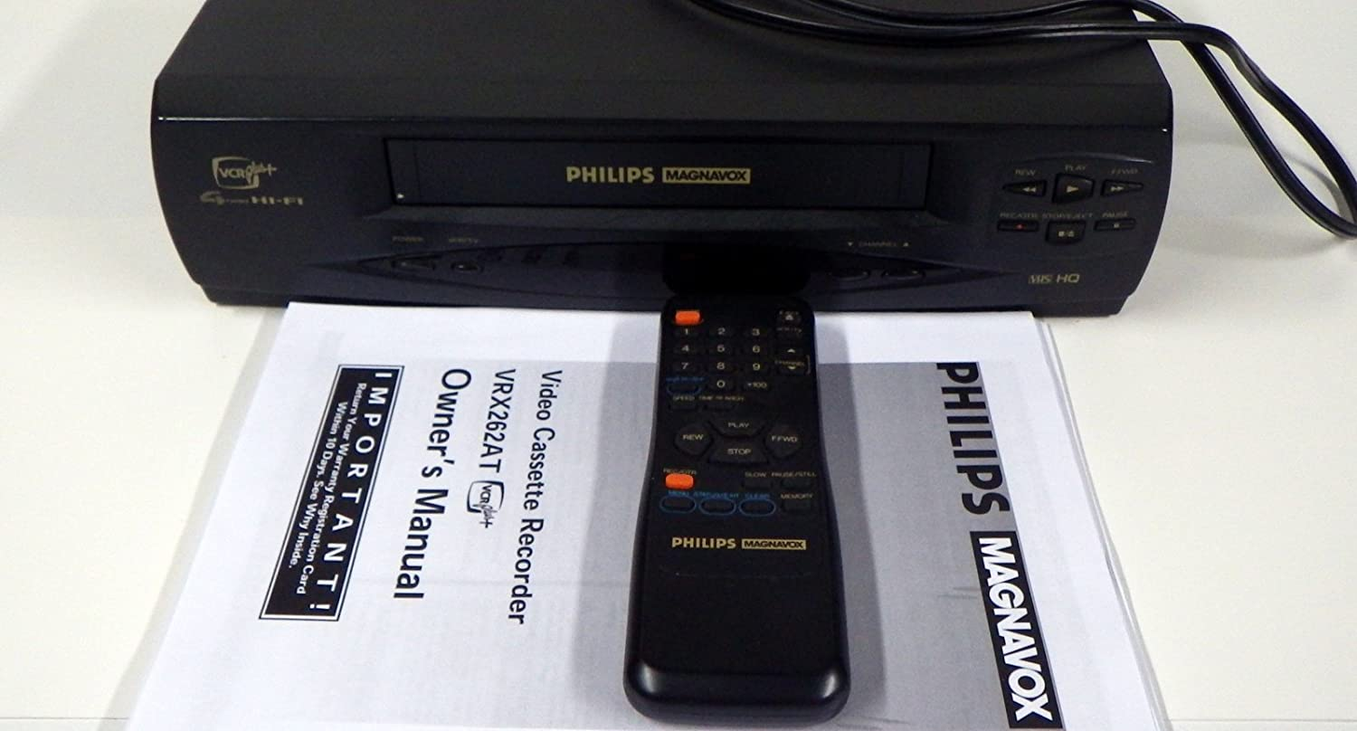 amazon com philips magnavox vrx262at vcr with owner s manual and rh amazon com Magnavox DVD Player Magnavox TV