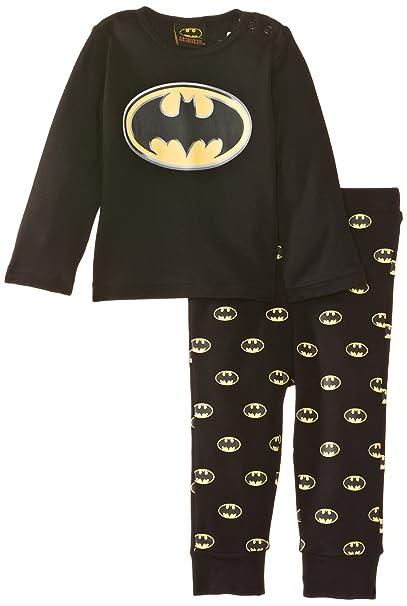Batman - Pijama para bebé, color negro, talla 6-12 meses (68