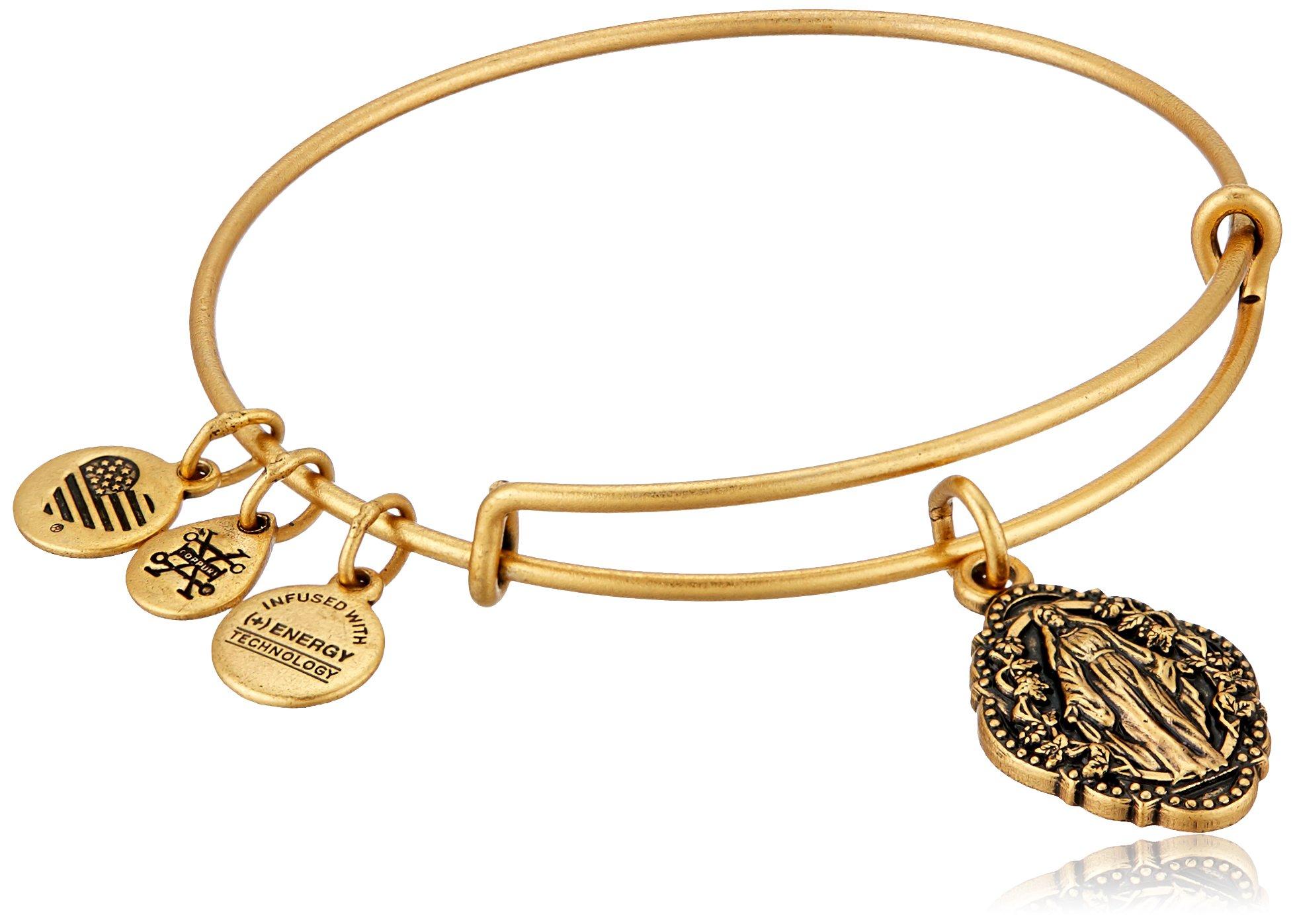 Alex and Ani Mother Mary III EWB Rafaelian Gold Bangle Bracelet