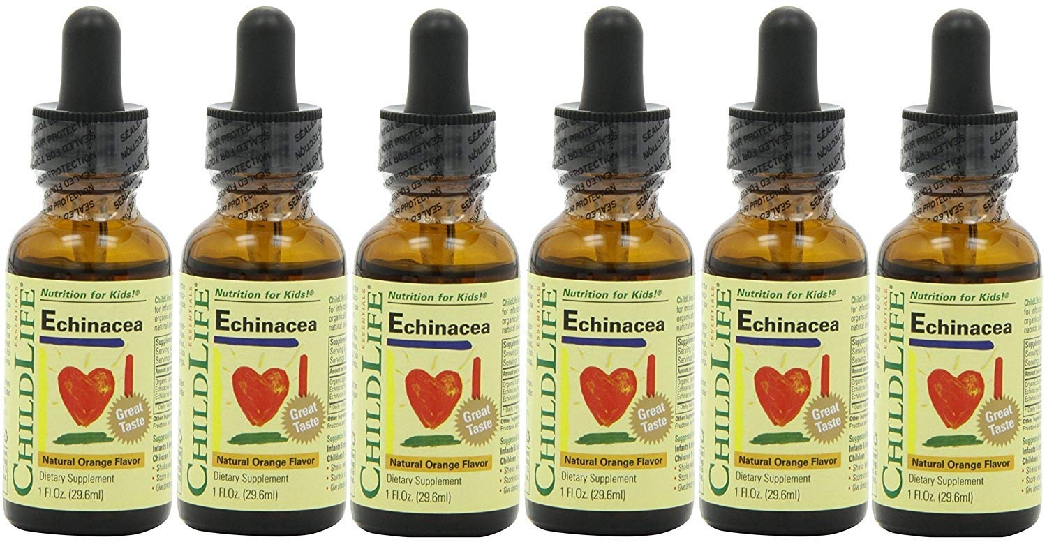 Child Life Echinacea, Glass Bottle, 1-ounce 6 Pack