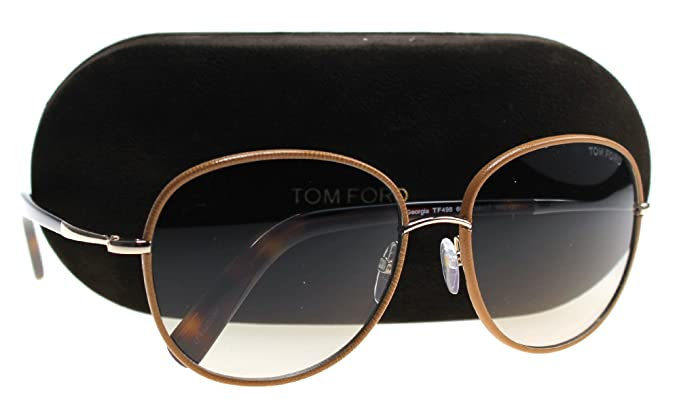 b19aa191892b Image Unavailable. Image not available for. Color  Tom Ford FT0498 Georgia Sunglasses  Brown ...