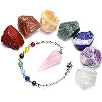 JSDDE 7 chakras piedras crudas Rough Rock cristales