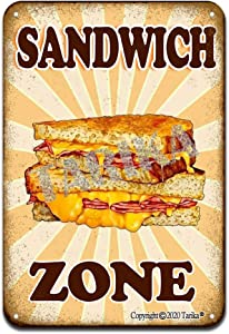 Sandwich Zone Iron Poster Painting Tin Sign Vintage Wall Decor for Cafe Bar Pub Home Beer Decoration Crafts