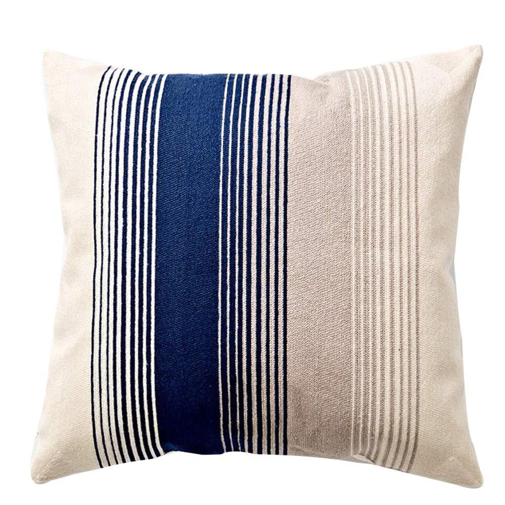 GJFeng Cuscino del Cuscino del Letto del Cuscino del Sofà del Salone Dell'ufficio del Cuscino del Ricamo del Cotone di Stile Nordico Semplice (colore   C)