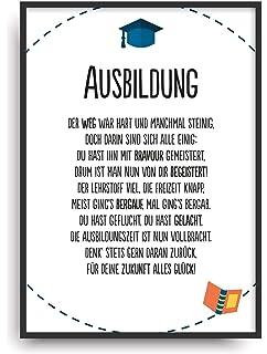 Urkunde personalisiert Geschenk Karte zur bestandenen Ausbildung ...