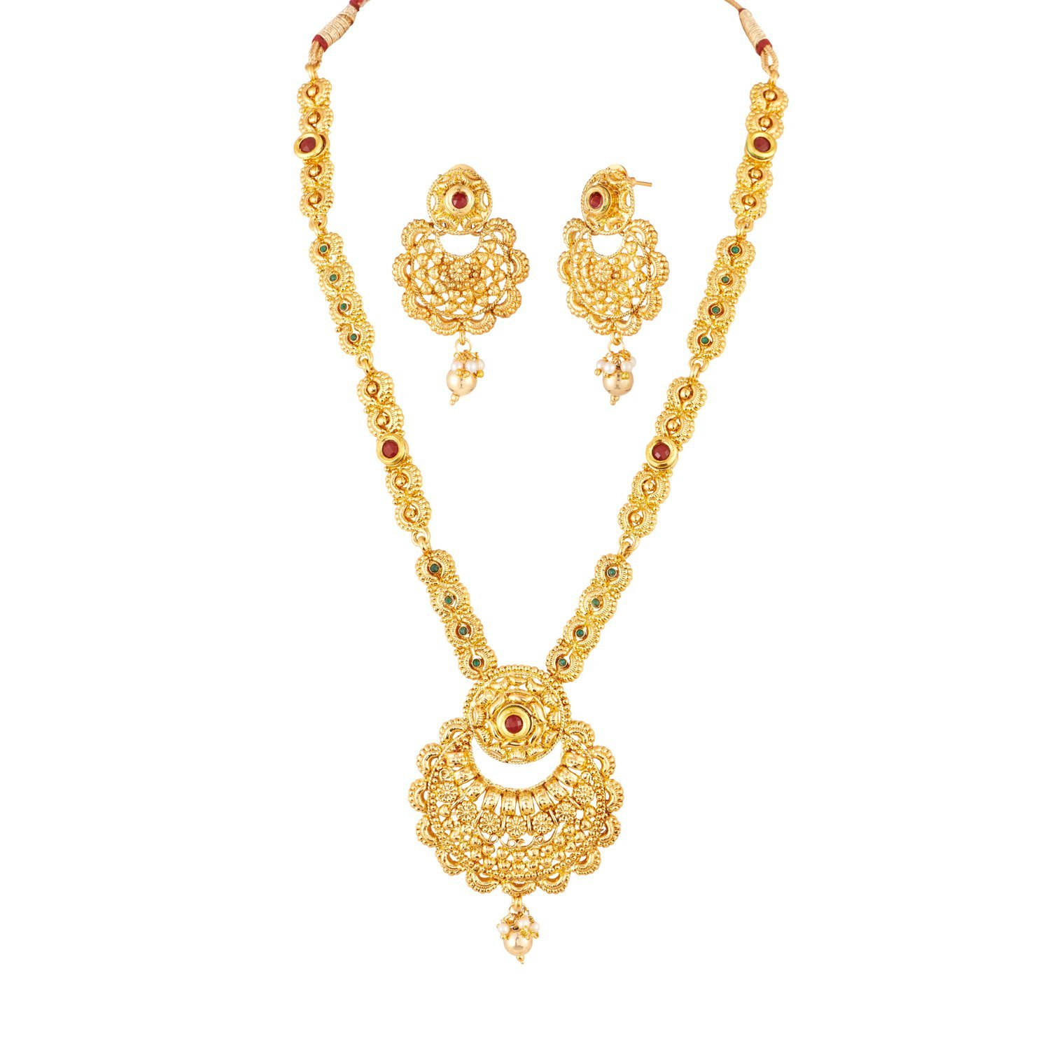 Buy Apara South Indian Long Necklace Set Jewellery For Women At