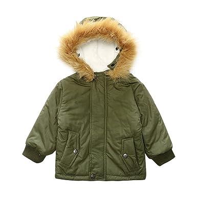0925ef1447d67 Desirca Baby Boy Children Kids Infant Baby Coat Child Outerwear Baby Boy  Jackets Army Green 3T
