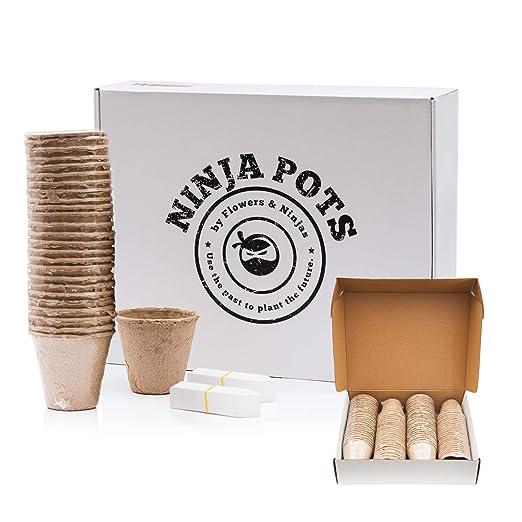 Ninja - Juego de 100 ollas de papel para arranque de ...