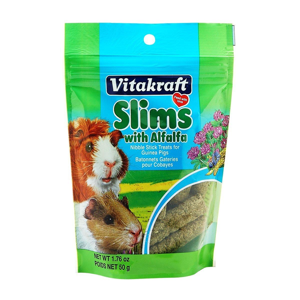 Vitakraft Guinea Pig Slims With Alfalfa Nibble Stick Treat, 1.76 Ounce Pouch