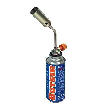 Butsir Soplete NS-1000 Incluido Cartucho de Gas B-250 Soplete/candileja, Dorado Quemador Soplete Soldador: Amazon.es: Bricolaje y herramientas