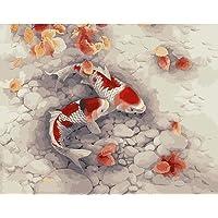 DIY digitale tela pittura ad olio regalo per adulti e bambini vernice di numero kit Home decorazioni- 40,6x 50,8cm