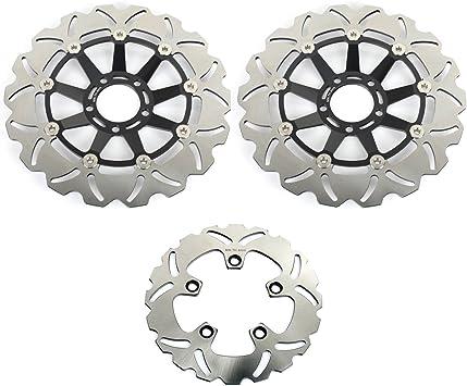 Tarazon Bremsscheiben Rotoren Set Vorne Hinten 3 Pcs Für Suzuki Gsx R 1100 G H J 86 87 88 Auto