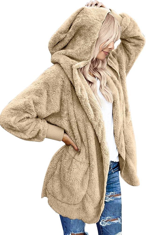 Amazon.com: Luvamia - Chaqueta de forro polar con capucha ...