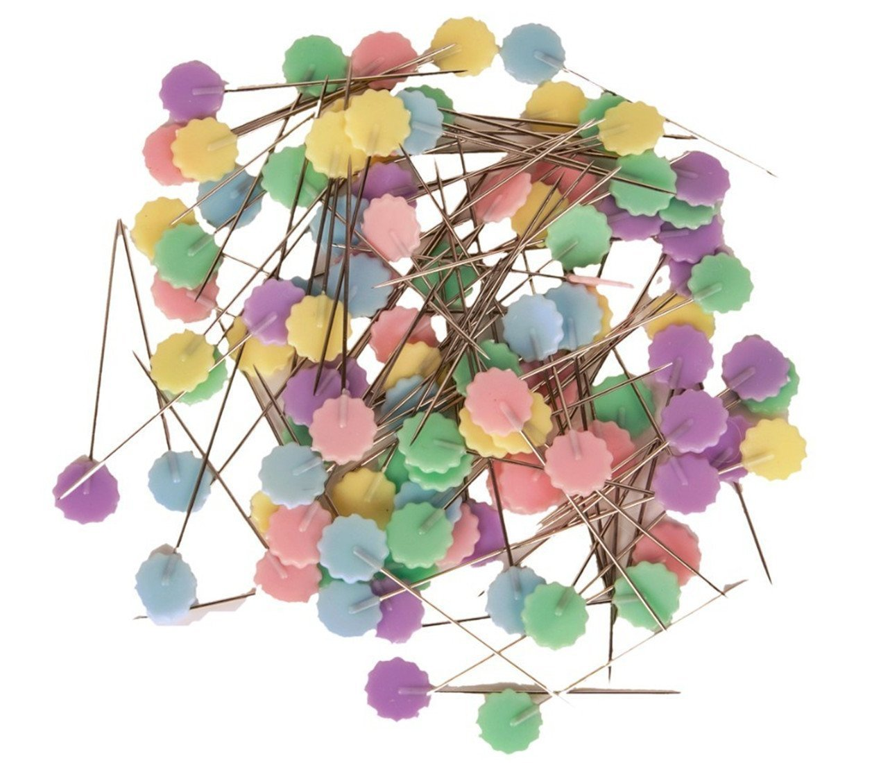 TECH-P Quilting Quilter's 1.9'' Colorful Happy Flower Head Pins Boxed (2x100 Count) TP-HP004