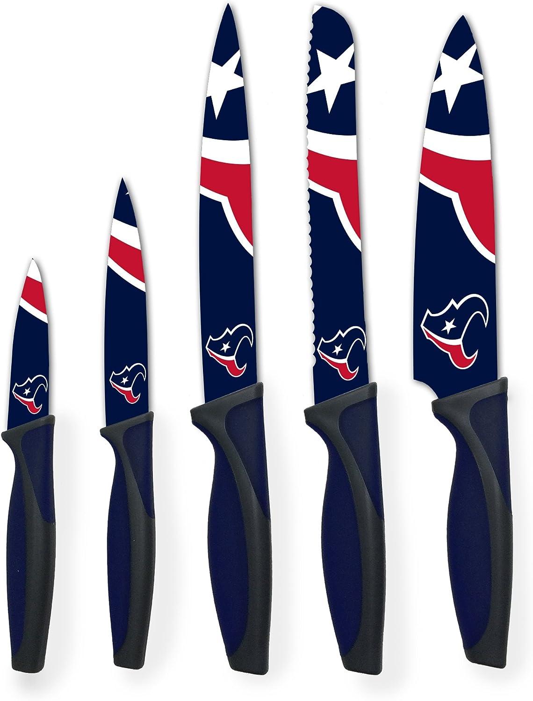 The Sports Vault NFL 5-Piece Kitchen Knife Set