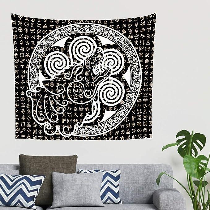 Keltisch Wolf vikingo runa tatuaje heno lobo espiral círculo de ...