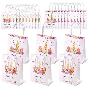 Swpeet - Juego de 20 bolsas de papel de regalo con diseño de ...