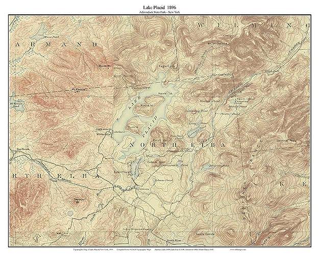 Amazon Com Lake Placid 1896 Usgs Old Topographic Map Lakes Reprint