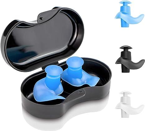 Sports Waterproof Silicone Swimming Aquatic Ear Plugs Water Earplugs 1 Pair Blue