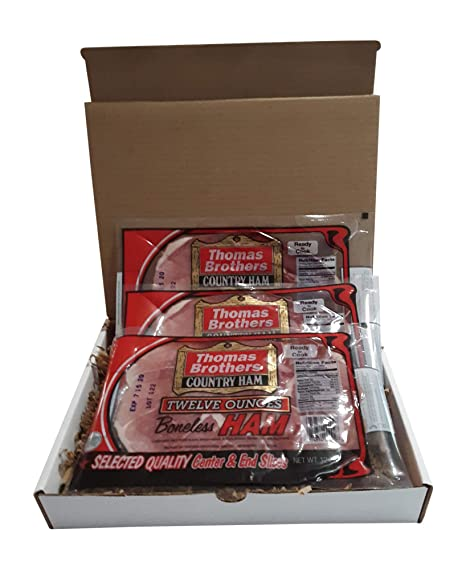 Thomas Brothers Country Jamón paquete de regalo, 3 – 12 oz ...
