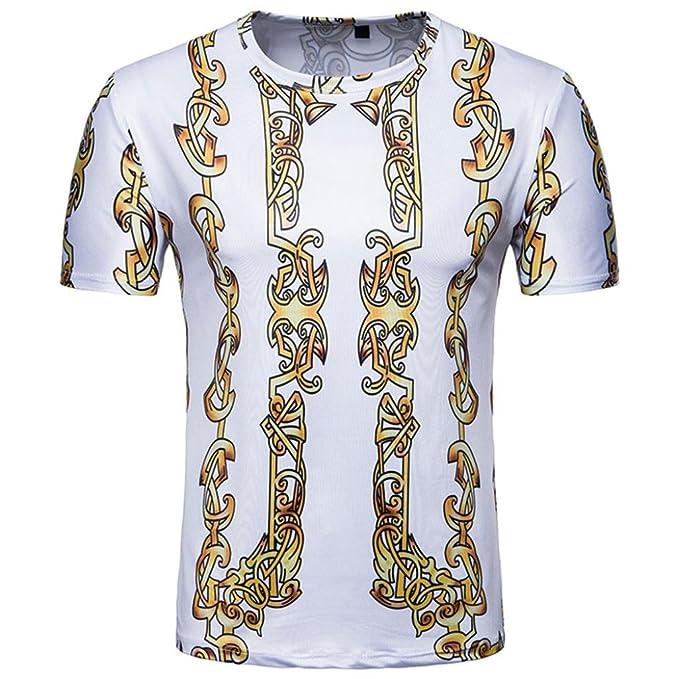 Amazon.com: Mose Gold Print - Camiseta de manga corta para ...