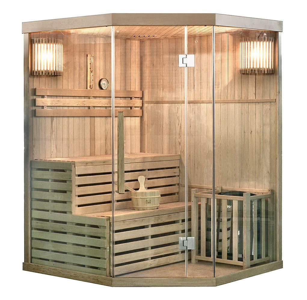 Home Deluxe - Traditionelle Sauna - Skyline XL - Holz: Hemlocktanne - Maß e: 210 x 150 x 150 cm - inkl. komplettem Zubehö r Home Deluxe GmbH