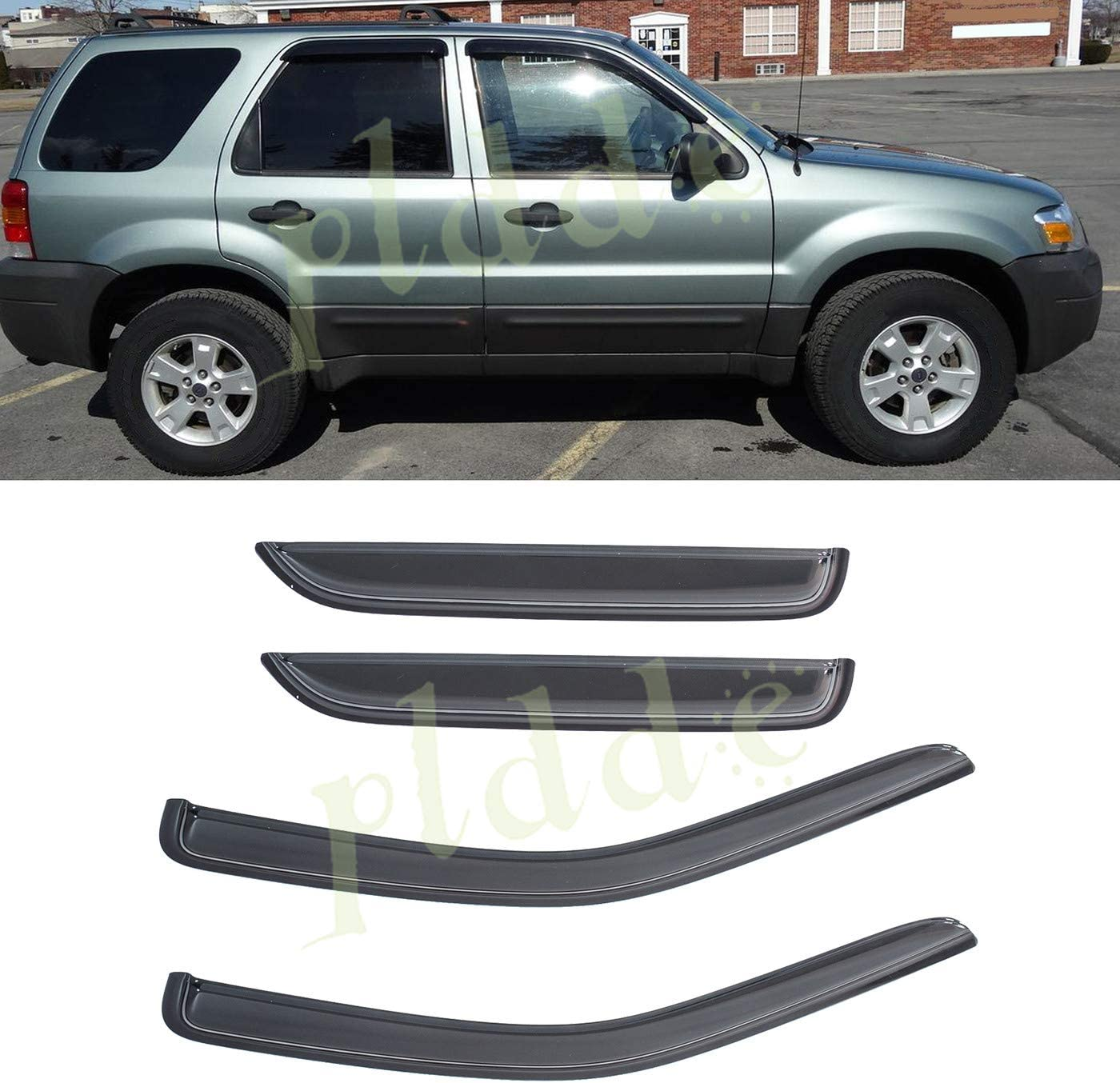 For Ford Escape 01-07 In-Channel Ventvisor Smoke Front /& Rear Window Deflectors