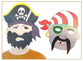 6 Piraten Masken Fur Kinder Zum Ausmalen Ideal Als Kostum Fur