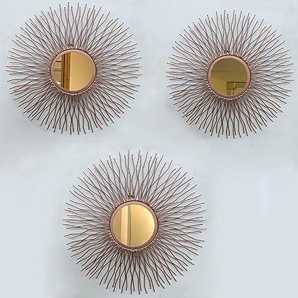 Buy Flourish Concepts The Sun Decorative Mirror Set Of 3 Mirrors