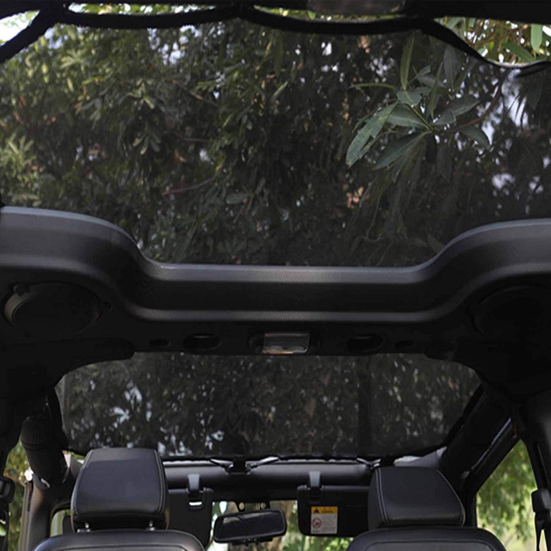 Sahara Unlimited Sport JKU 2 doors Rubicon Jeep Wrangler Bikini Top Jeep JK 2007-2017 Mesh Bikini Sunshade Full top Cover UV Protection Storage Bag