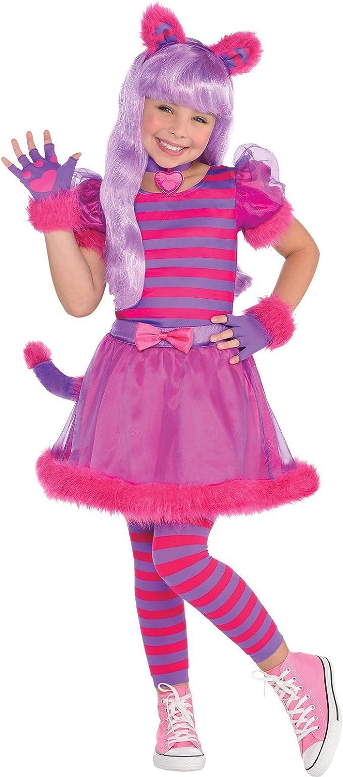 Amscan Disfraz de Gato Rosado Lindo de Cheshire para Niños Medium ...