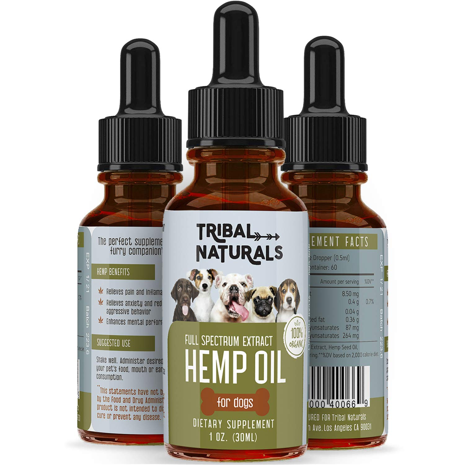 Organic Hemp Seed Oil for Dogs, 500MG Pure Pets Hemp Oil, Full Spectrum Hemp Oil for Pain Relief, Dog Anxiety Relief & Nausea Relief, Hemp Oil Dog Treats ...