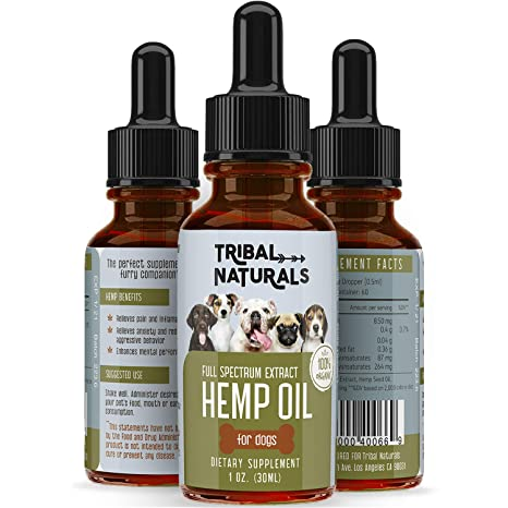 Organic Hemp Seed Oil for Dogs, 500MG Pure Pets Hemp Oil, Full Spectrum Hemp