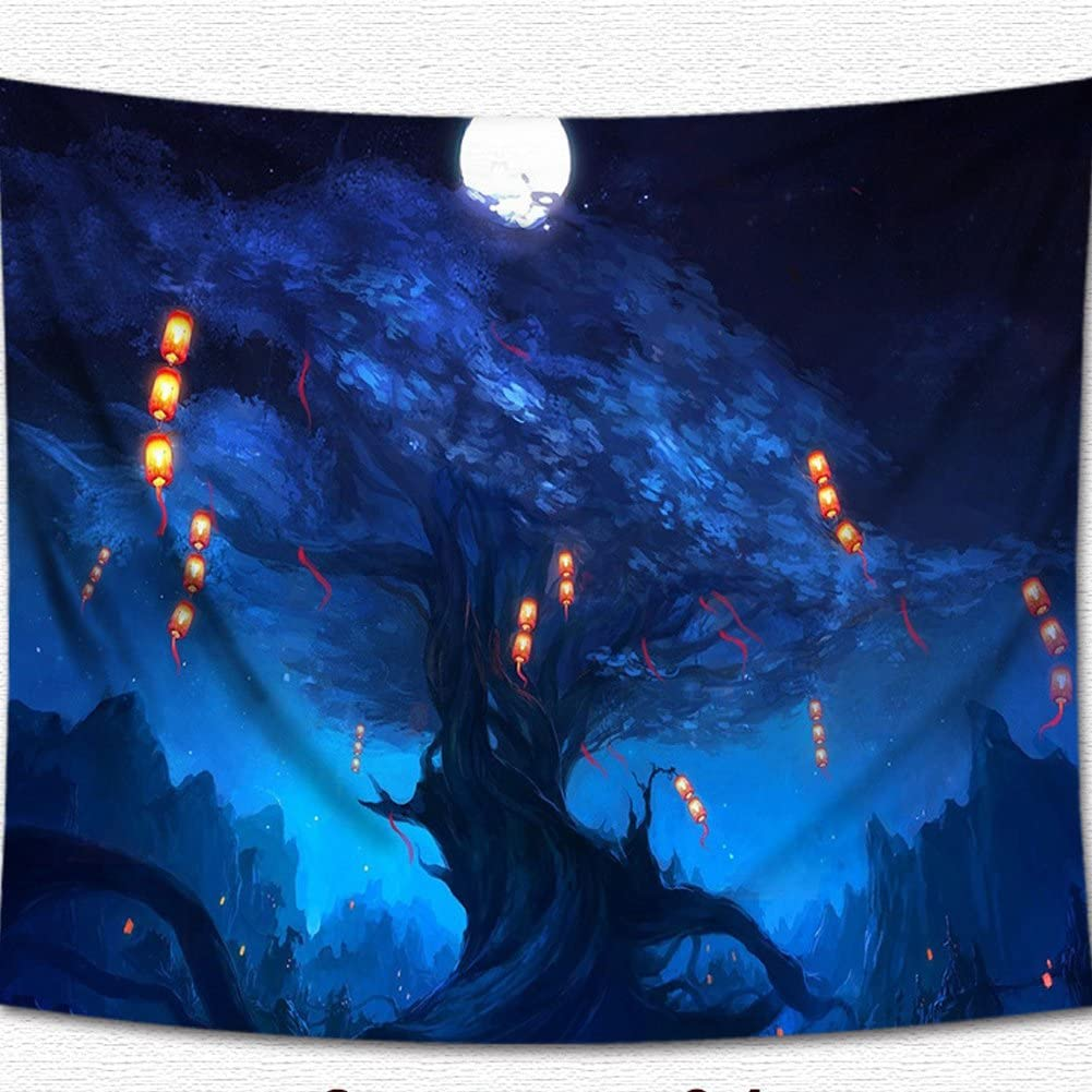 5, 78Wx59L QCWN 3D Printing Fantasy Plant Magical Forest Tapestry Art For Home Decor Wall Hanging Tapestry