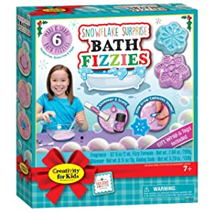 Creativity for Kids – Snowflake Surprise Bath Fizzies – Create Your Own DIY Bath Bombs - Makes 6 Snowflake Designs